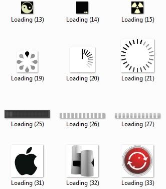 مجموعه 213 لوآدینگ مختلف و کاربردی با فرمت GIF
