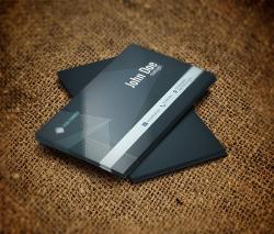 کارت ویزیت دو رو لایه باز PSD شخصی